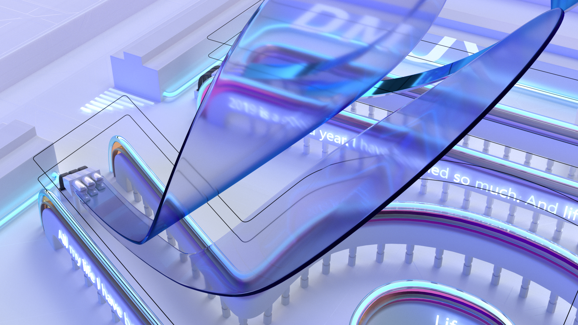 Tech landscape - Wave distortion